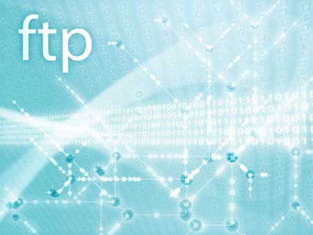 protocol: File transfer protocol ftp illustration, Digital data transfer Stock Photo