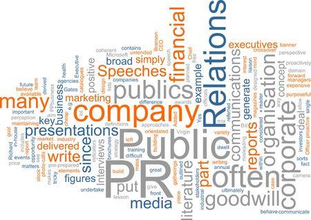 Word cloud concept illustration of public relations Stock fotó