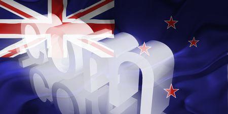tokelau: Flag of Tokelau, national country symbol illustration wavy fabric www internet e-commerce