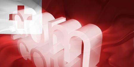Flag of Tonga, national country symbol illustration wavy fabric www internet e-commerce illustration