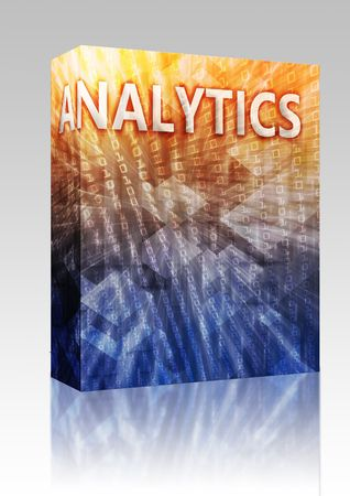 Software package box Analytics Business intellegence abstract, computer technology concept illustration illustration