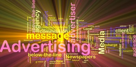 customer focus: Word cloud concept illustration of advertising marketing glowing light effect