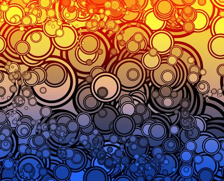psychedelics: Retro abstract psychedelic multicolored circle pattern design Stock Photo