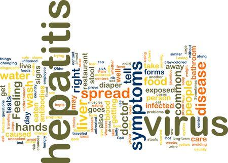hepatitis virus: Word cloud concept illustration of  hepatitis virus Stock Photo