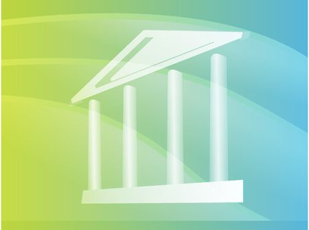 established: Grand building with pillars showing government, finance Stock Photo