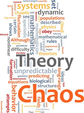 fluctuation: Word cloud concept illustration of chaos theory