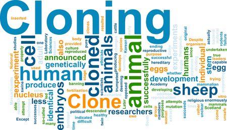 Word cloud concept illustration of cloning clone illustration
