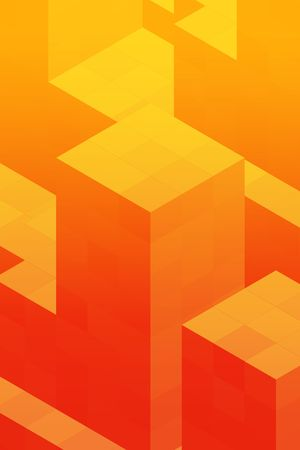 arranging: Abstract illustration wallpaper of geometric shape cubes