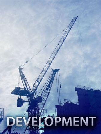 Digital collage illustration of construction industry equipment Stock Illustration - 6476790