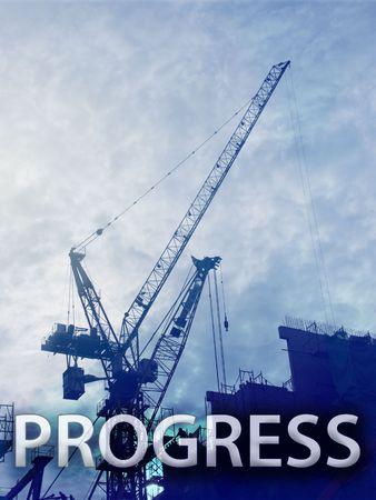 Digital collage illustration of construction industry equipment Stock Illustration - 6476792
