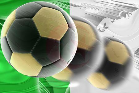 Flag of Algeria, national country symbol illustration wavy sports soccer football Stock Illustration - 6521605