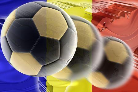 Flag of Andorra, national country symbol illustration wavy sports soccer football illustration