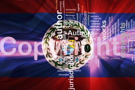 authorship: Flag of Belize, national country symbol illustration wavy fabric national copyright law Stock Photo
