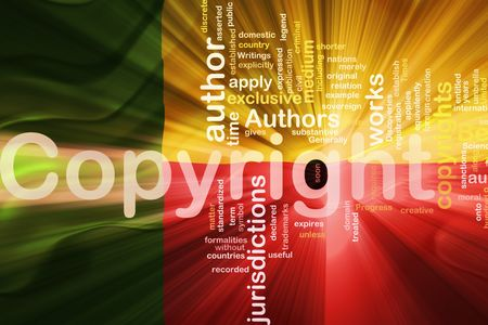 authorship: Flag of Benin, national country symbol illustration wavy fabric national copyright law Stock Photo