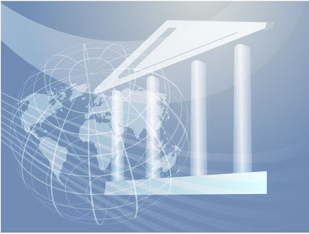 governance: Grand building with pillars showing government, finance Stock Photo