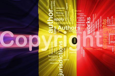 authorship: Flag of Chad, national country symbol illustration wavy fabric national copyright law