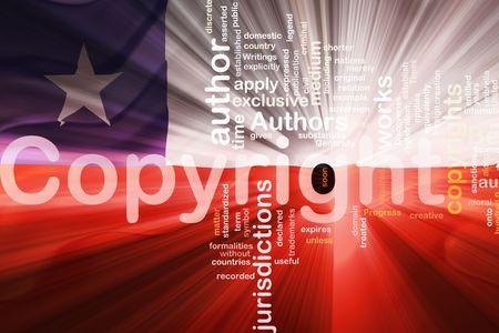 authorship: Flag of Chile, national symbol illustration clipart wavy fabric national copyright law