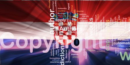 authorship: Flag of Croatia, national country symbol illustration wavy fabric national copyright law Stock Photo