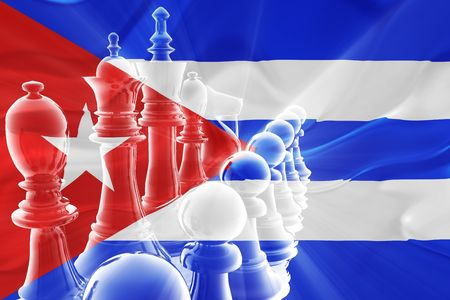 Flag of Cuba, national symbol illustration clipart wavy fabric business competition strategy illustration