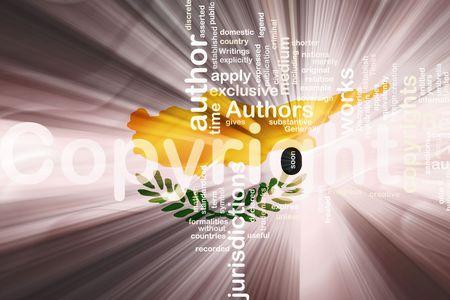 authorship: Flag of Cyprus, national symbol illustration clipart wavy fabric national copyright law
