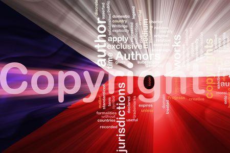 Flag of Czechoslovakia, national symbol illustration clipart wavy fabric national copyright law Stock Illustration - 6527729