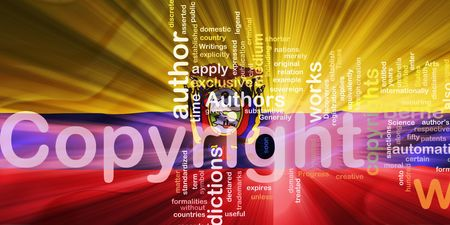 authorship: Flag of Ecuador, national country symbol illustration wavy fabric national copyright law