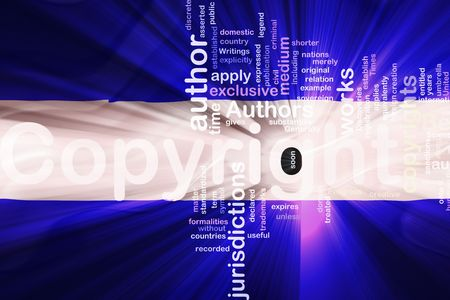 authorship: Flag of El Salvador, national country symbol illustration wavy fabric national copyright law Stock Photo