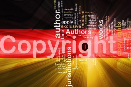 authorship: Flag of Germany, national country symbol illustration wavy fabric national copyright law Stock Photo