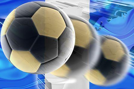 Flag of Guatemala, national country symbol illustration wavy sports soccer football illustration