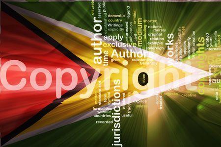 Flag of Guyana, national country symbol illustration wavy fabric national copyright law illustration
