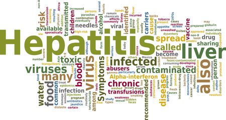 hepatitis vaccine: Word cloud concept illustration of Hepatitis disease