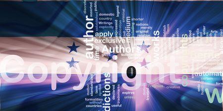 authorship: Flag of Honduras, national country symbol illustration wavy fabric national copyright law Stock Photo