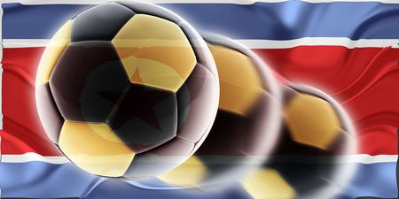 Flag of North Korea, national country symbol illustration wavy sports soccer football Stock Illustration - 6528175