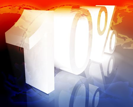 price reduction: Ten 10 percent discount sale price reduction promotion background