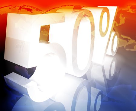 price reduction: Fifty 50 percent discount sale price reduction promotion background