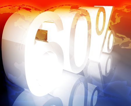price reduction: Sixty 60 percent discount sale price reduction promotion background