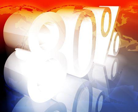 achtzig: 80 80 Prozent Rabatt Verkauf Preis Reduzierung F�rderung Hintergrund