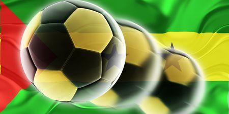 principe: Bandera de Santo Tom� y Pr�ncipe, ilustraci�n de s�mbolo nacional del pa�s ondulado deportes f�tbol F�tbol