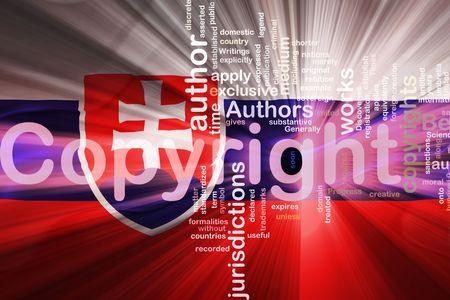 authorship: Flag of Slovakia, national country symbol illustration wavy fabric national copyright law
