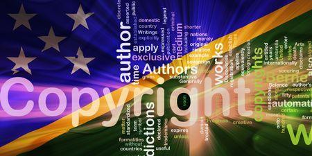 authorship: Flag of Solomon Islands, national country symbol illustration wavy fabric national copyright law