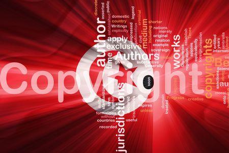 authorship: Flag of Tunisia, national country symbol illustration wavy fabric national copyright law