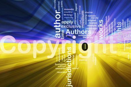 authorship: Flag of Ukraine, national country symbol illustration wavy fabric national copyright law