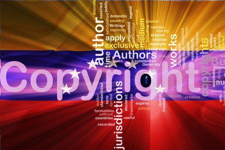 authorship: Flag of Venezuela, national country symbol illustration wavy fabric national copyright law