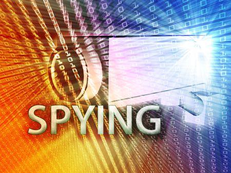 supervise: Security video camera digital surveillance equipment illustration