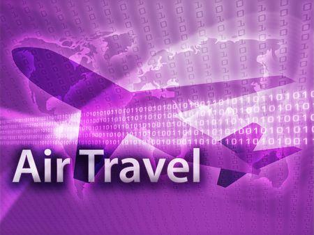 Online travel, illustration of electronic booking reservation illustration