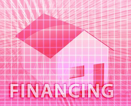 House financing digital collage illustration, subprime loan illustration