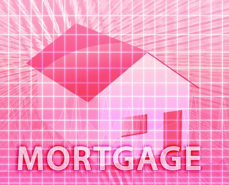 House financing digital collage illustration, subprime loan Stock Illustration - 6528282