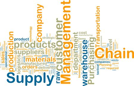 suppliers: Word cloud tags concept illustration of supply chain management Stock Photo