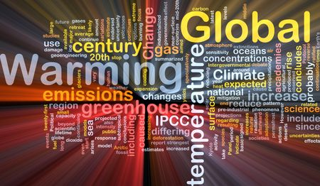 world agricultural: Background concept wordcloud illustration of global warming greenhouse glowing light