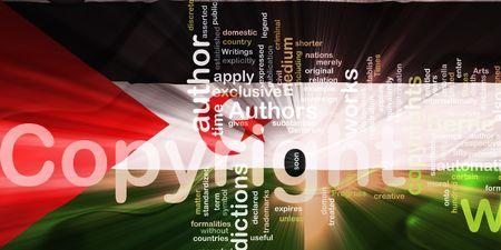 authorship: Flag of Western Sahara, national country symbol illustration wavy fabric national copyright law